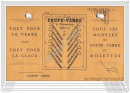 75 10 511 PARIS SEINE 1946 Coupe Verre ˆ Molettes ADLER Rue Des Boulets - Pubblicitari