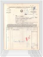 33 - 505 BEGLES GIRONDE 1952 COMPAGNIE GENERALE DE GRANDE PECHE Agence Secherie ˆ FECAMP LA ROCHELLE PALLICE PORT BOUC - Alimentaire