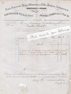 Lettre Facture 1843 / POUPILLIER & Cie / Hauts Fourneaux, Forge, Laminoir / BREVILLY Près Sedan / 08 Ardennes - 1800 – 1899
