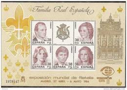 1984-ED. 2754 H.B.-EXPO. MUNDIAL DE FILATELIA-ESPAÑA.84-NUEVO- - Blocs & Hojas