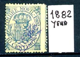 SPAGNA - Year 1882 - FISCALI POSTALI - Usato - Used - Utilisè - Gebraucht. - Fiscali