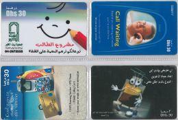 LOT 4 PREPAID PHONE CARD UNITED ARAB EMIRATES (E9.27.1 - United Arab Emirates