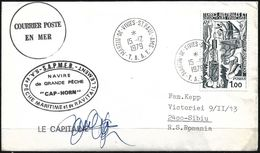 1979 - LETTER Sent By Sea Post Courier From T.A.A.F. To Sibiu (Romania) - Terres Australes Et Antarctiques Françaises (TAAF)