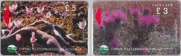 LOT 2 PHONE CARD CIPRO (E11.11.7 - Cyprus