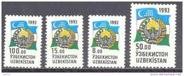 1993. Uzbekistan, Definitives, Flag & COA, 4v, Mint/** - Uzbekistan
