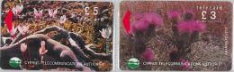 LOT 2 PHONE CARD CIPRO (E11.26.3 - Cyprus