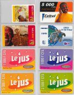 LOT OF 8 PREPAID PHONE CARD BURKINA FASO (E12.5.1 - Burkina Faso