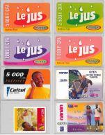 LOT OF 8 PREPAID PHONE CARD BURKINA FASO (E12.6.1 - Burkina Faso