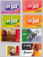 LOT OF 8 PREPAID PHONE CARD BURKINA FASO (E12.7.1 - Burkina Faso