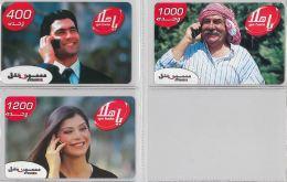 LOT 3 PREPAID PHONE CARD  SIRIA (E12.28.1 - Syria