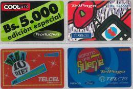 LOT 4 PREPAID PHONE CARD VENEZUELA (E13.23.1 - Venezuela