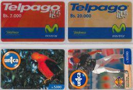 LOT 4 PREPAID PHONE CARD VENEZUELA (E13.24.5 - Venezuela