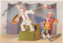 CHROMO   Pierrot Avec épée ( Escrime / Perruque  ) AUX TROIS QUARTIERS ( Lith H. Bataille à Paris ) - Andere