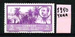 SPAGNA - Year 1950 - AFRICA OCCIDENTALE SPAGNOLA -- Nuovo - News - Fraiche -frisch - MH. - Sahara Spagnolo