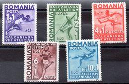 Serie De Rumania Nº Yvert 525/29 (*) - 1918-1948 Ferdinand, Charles II & Michael