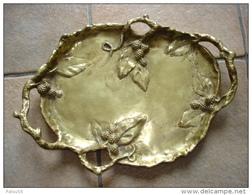 Grande Coupelle Vide Poche Bronze Art Nouveau Murier Signé A Marionnet - Bronzes