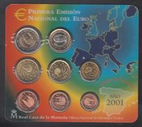 SPAIN  EURO SET 2001 BU - Espagne