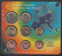 SPAIN  EURO SET 2002 BU - Espagne