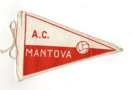 """07129 """"MANTOVA A.C. FOOTBALL CLUB - BANDIERINA BIFRONTE IN STOFFA CON LEGACCI"""" ANNI '70 ORIG. - Abbigliamento, Souvenirs & Varie"""