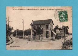 91 Essonne Sainte Genevieve Des Bois Avenues De L ' Orangerie Et Des Eglantiers (carte Tachée Vendue Dans L ' Etat) - Sainte Genevieve Des Bois