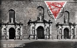 "Estland RIGA - Portal Der St.Petrikirche, Gelaufen 1929, Nachporto, Seltene Frankierung, Nachportostempel ""T"" - Estland"