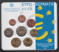 GREECE  EURO SET 2002 BU - Grèce