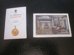 Souvenir A.Augis Résume Historique De La Médaille D'Amour Chromo-Images+Faire-part Naissance-baptême 1966 Marseille 13 - Birth & Baptism