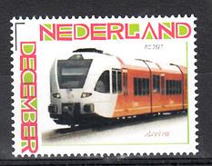 Trein, Trains, Locomotive, Eisenbahn: Nederland Persoonlijke Zegel: Arriva Nr 3917 - Trains