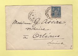 Convoyeur - Bretigny A Paris - 1899 - Postmark Collection (Covers)