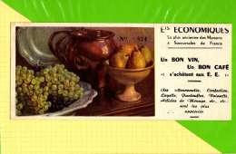BUVARD & Blotting Paper  : ETS ECONOMIQUES Un Bon Café  Nature Morte FRuits - Coffee & Tea
