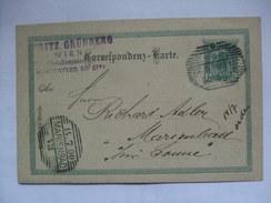 AUSTRIA - 1900 Postcard - Wien To Marienbad (Bohmen) Sent By Moritz Grunberg Early Stamp Dealer - 1850-1918 Empire