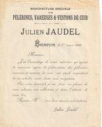 Lettre Commerciale Ancienne/Manufacture Pèlerines Vareuses & Vestons De Cuir/Julien JAUDEL/Besançon/DOUBS/1916   FACT315 - Textile & Vestimentaire