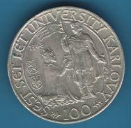 CESKOSLOVENSKA 100 KORUN 1948 UNIVERSITY KARLOVY  KM# 26 ARGENT SILVER  500‰ - Czechoslovakia
