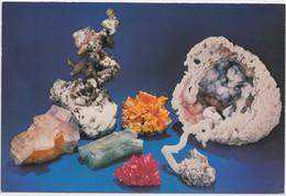 Minerals: Copper Crystals, Wulfenite, Quartz, Unused Postcard [20734] - Postcards
