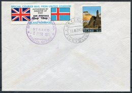 1971 Iceland GB Strike Mail Emergency Post, Keflavik Airmail Cover - 1944-... Republic
