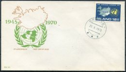1970 Iceland Grimsey (Blue Postmark) Cover - 1944-... Republic