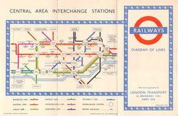 "07134 ""LONDON TRANSPORT 1951 - RAILWAYS - CENTRAL AREA INTERCHANGE STATIONS"" PUBBL. ORIG. - Europe"