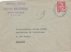 Enveloppe Commerciale 1948 / Marcel CHRETINAT / Confection / 10 Arcis Sur Aube / Aube - Maps