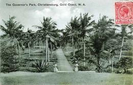 CHRISTIANSBURG - Gold Coast (West Afrika), The Governor's Park, Gelaufen 1917 Mit Marke, Zensurstempel ... - Ehemalige Dt. Kolonien
