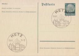 Entier 6pg Obl. Metz (T340 Metz-porte Des Allemands B) Le 5/10/40 - Marcofilia (sobres)