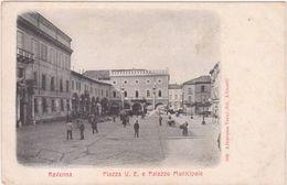 M108 RAVENNA PIAZZA V E E PALAZZO MUNICIPALE ANIMATA ALTEROCCA NUMERO 889 - Ravenna