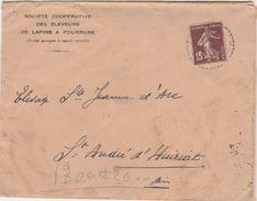 Enveloppe Commerciale 1930/ Eleveurs Lapins Fourrure / Cuniculture / Ste Jeanne D' Arc / 01 Saint André D' Huiriat / Ain - Maps