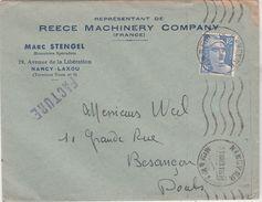 Enveloppe Commerciale 1949 / Marc STENGEL / Mécanicien Spécialiste / Reece Machinery Company / 54 Nancy Laxou - Maps