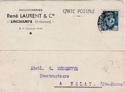 Carte Commerciale 1948 / René LAURENT & Cie / Boulonneries / 08 Linchamps / Ardennes - Maps