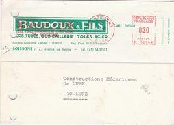 Carte Commerciale / BAUDOUX & Fils / Quincaillerie / 02 Soissons / Aisne - Maps