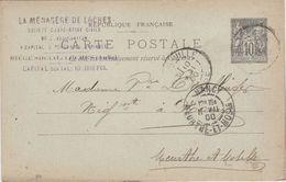 """Carte Commerciale 1900 / Entier / """" La Ménagères De Loches""""  / 10 Loches Aube - Maps"""
