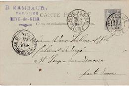 Carte Commerciale 1894 / Entier / B. RAMBAUD / Tapissier / 42 Rive De Gier / Loire - Maps