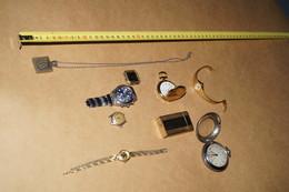 Lot De Montres Vintages,Pendentif, + Briquet Dupont + Montres A Gousset,beau Lot De 9 Pièces - Watches: Old