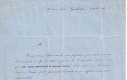 Lettre Com. Anc./Chgt De Propriétaire/Com. & Transac./ Bonnaffé Jugla & Cie/ Pointe à Pitre/GUADELOUPE/1858   FACT321 - France