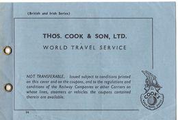 """07139 """"BIGLIETTO TRASPORTO NR 10123 -1952 - VALIDO UN POSTO BUS TOUR CIRCOLARE A THAMES VALLEY"""" BIGLIETTO ORIG. - Europe"""